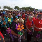 Alzheimer's Walk Attendees Preparing For Event